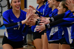 CIAC Girls Volleyball; Bristol Eastern vs. Farmington - Photo # 284