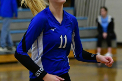 CIAC Girls Volleyball; Bristol Eastern vs. Farmington - Photo # 343