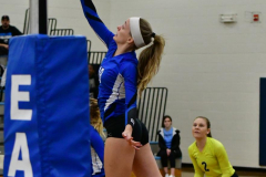 CIAC Girls Volleyball; Bristol Eastern vs. Farmington - Photo # 354