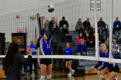 CIAC Girls Volleyball; Bristol Eastern vs. Farmington - Photo # 360