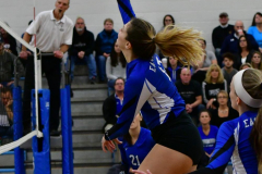 CIAC Girls Volleyball; Bristol Eastern vs. Farmington - Photo # 372