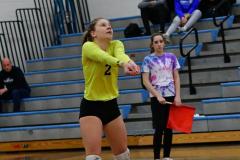 CIAC Girls Volleyball; Bristol Eastern vs. Farmington - Photo # 465
