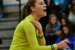 CIAC Girls Volleyball; Bristol Eastern vs. Farmington - Photo # 479