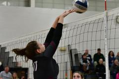 CIAC Girls Volleyball; Bristol Eastern vs. Farmington - Photo # 552
