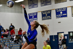 CIAC Girls Volleyball; Bristol Eastern vs. Farmington - Photo # 558