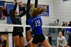 CIAC Girls Volleyball; Bristol Eastern vs. Farmington - Photo # 576