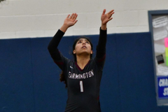 CIAC Girls Volleyball; Bristol Eastern vs. Farmington - Photo # 581