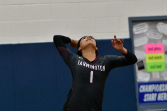 CIAC Girls Volleyball; Bristol Eastern vs. Farmington - Photo # 582