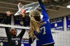 CIAC Girls Volleyball; Bristol Eastern vs. Farmington - Photo # 595