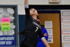 CIAC Girls Volleyball; Bristol Eastern vs. Farmington - Photo # 597