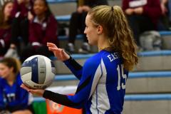 CIAC Girls Volleyball; Bristol Eastern vs. Farmington - Photo # 600