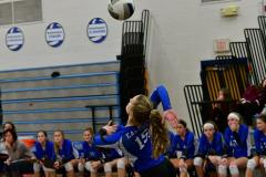 CIAC Girls Volleyball; Bristol Eastern vs. Farmington - Photo # 602