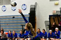 CIAC Girls Volleyball; Bristol Eastern vs. Farmington - Photo # 603