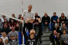 CIAC Girls Volleyball; Bristol Eastern vs. Farmington - Photo # 739