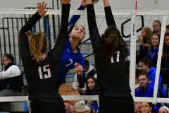 CIAC Girls Volleyball; Bristol Eastern vs. Farmington - Photo # 821