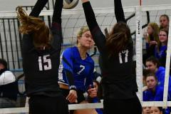 CIAC Girls Volleyball; Bristol Eastern vs. Farmington - Photo # 822