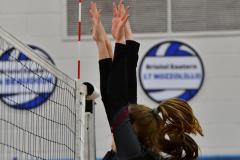 CIAC Girls Volleyball; Bristol Eastern vs. Farmington - Photo # 823