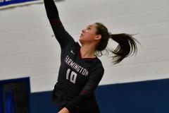 CIAC Girls Volleyball; Bristol Eastern vs. Farmington - Photo # 843
