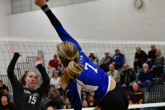 CIAC Girls Volleyball; Bristol Eastern vs. Farmington - Photo # 906