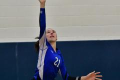 CIAC Girls Volleyball; Bristol Eastern vs. Farmington - Photo # 923