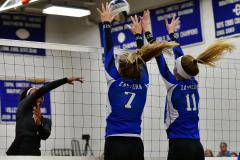 CIAC Girls Volleyball; Bristol Eastern vs. Farmington - Photo # 970