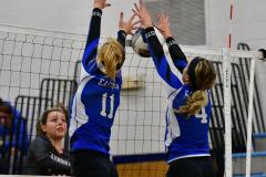 CIAC Girls Volleyball; Bristol Eastern vs. Farmington - Photo # 972