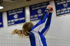 CIAC Girls Volleyball; Bristol Eastern vs. Farmington - Photo # 978