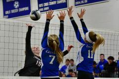 CIAC Girls Volleyball; Bristol Eastern vs. Farmington - Photo # 981