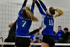 CIAC Girls Volleyball; Bristol Eastern vs. Farmington - Photo # 982
