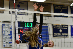 CIAC Girls Volleyball; Bristol Eastern vs. Farmington - Photo # 989