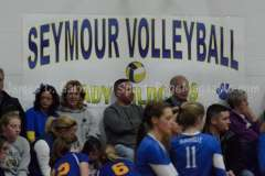 CIAC Girls Volleyball Class M State QF's Seymour 3 vs Plainville 2 (25-22, 21-25, 25-14, 21-25, 15-3) - Photo (57)