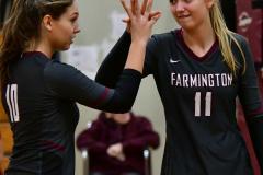 CIAC G. Volleyball; Farmington 3 vs. Hartford Public 0 - Photo # 494