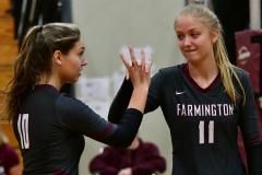 CIAC G. Volleyball; Farmington 3 vs. Hartford Public 0 - Photo # 495