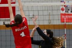 CIAC Girls Volleyball; Wolcott 0 vs. Woodland 3 - Photo # (102)