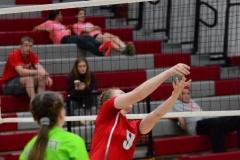 CIAC Girls Volleyball; Wolcott 0 vs. Woodland 3 - Photo # (106)