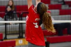 CIAC Girls Volleyball; Wolcott 0 vs. Woodland 3 - Photo # (110)