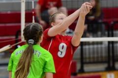 CIAC Girls Volleyball; Wolcott 0 vs. Woodland 3 - Photo # (112)
