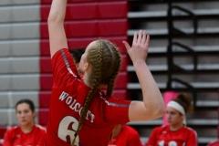 CIAC Girls Volleyball; Wolcott 0 vs. Woodland 3 - Photo # (114)