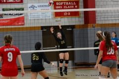 CIAC Girls Volleyball; Wolcott 0 vs. Woodland 3 - Photo # (119)