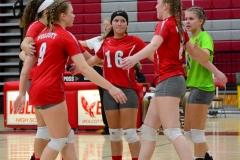 CIAC Girls Volleyball; Wolcott 0 vs. Woodland 3 - Photo # (124)