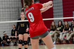 CIAC Girls Volleyball; Wolcott 0 vs. Woodland 3 - Photo # (126)