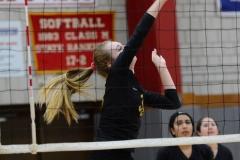 CIAC Girls Volleyball; Wolcott 0 vs. Woodland 3 - Photo # (129)
