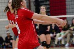 CIAC Girls Volleyball; Wolcott 0 vs. Woodland 3 - Photo # (135)