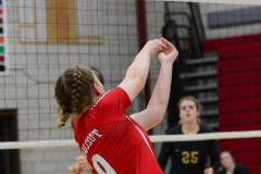 CIAC Girls Volleyball; Wolcott 0 vs. Woodland 3 - Photo # (136)