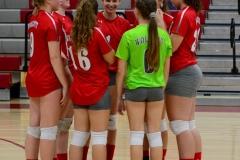 CIAC Girls Volleyball; Wolcott 0 vs. Woodland 3 - Photo # (14)