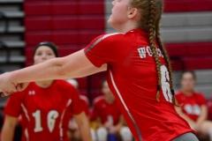 CIAC Girls Volleyball; Wolcott 0 vs. Woodland 3 - Photo # (187)