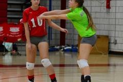 CIAC Girls Volleyball; Wolcott 0 vs. Woodland 3 - Photo # (211)