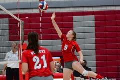 CIAC Girls Volleyball; Wolcott 0 vs. Woodland 3 - Photo # (215)