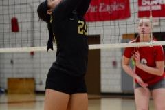 CIAC Girls Volleyball; Wolcott 0 vs. Woodland 3 - Photo # (237)