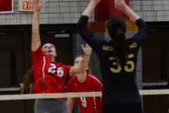 CIAC Girls Volleyball; Wolcott 0 vs. Woodland 3 - Photo # (259)